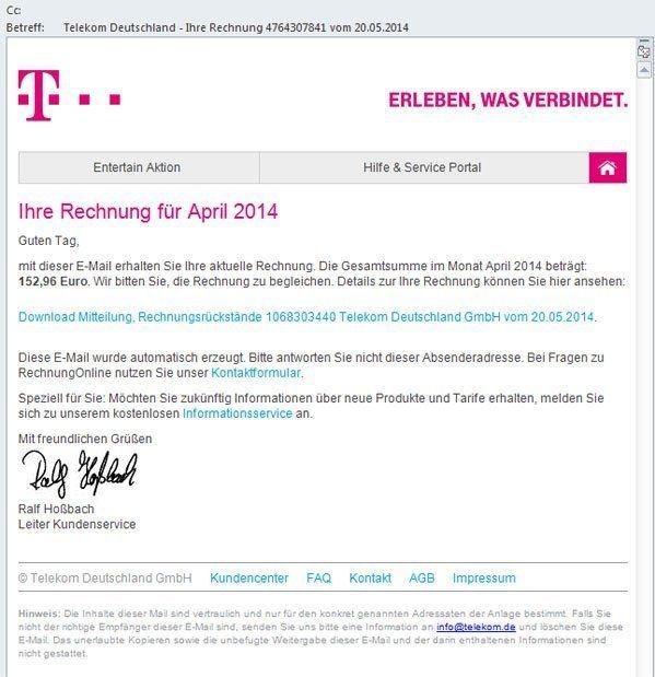 Ak Warnt Vor Gefälschten Rechnungen Per Mail Multimedia Vorarlberg