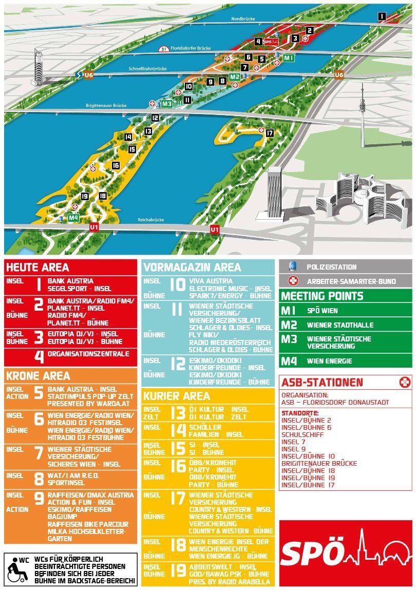 donauinselfest plan 2015 alle b 252 hnen und stationen im