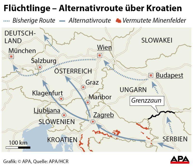Ruhige Nacht An Osterreichs Grenzen Verletzte Und Festnahmen Nach Tumulten In Ungarn Politik Vol At