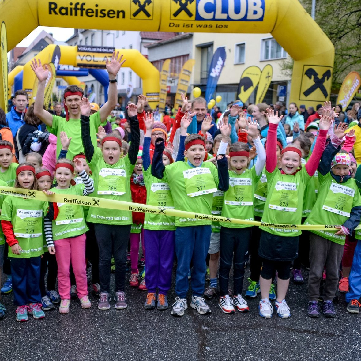 2000 Kids sind beim Kindermarathon in Bludenz am Start