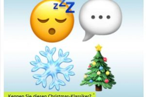 Weihnachts-Songs in Emojis