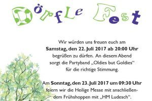 Traditionelles Dörflefest in Thüringen