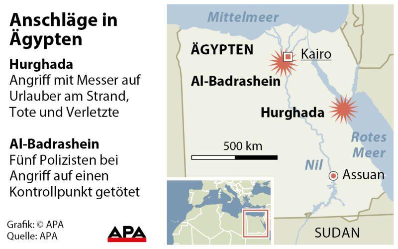 Offenbar zwei Deutsche in Ägypten mit Messer getötet