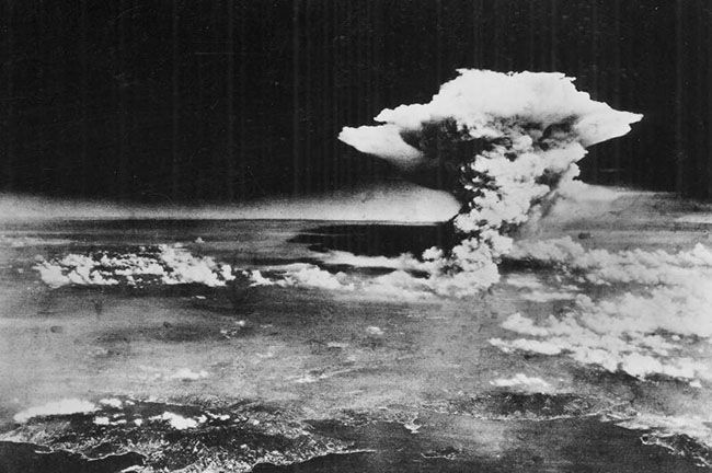 Der Atompilz der damaligen Hiroshima Bombe