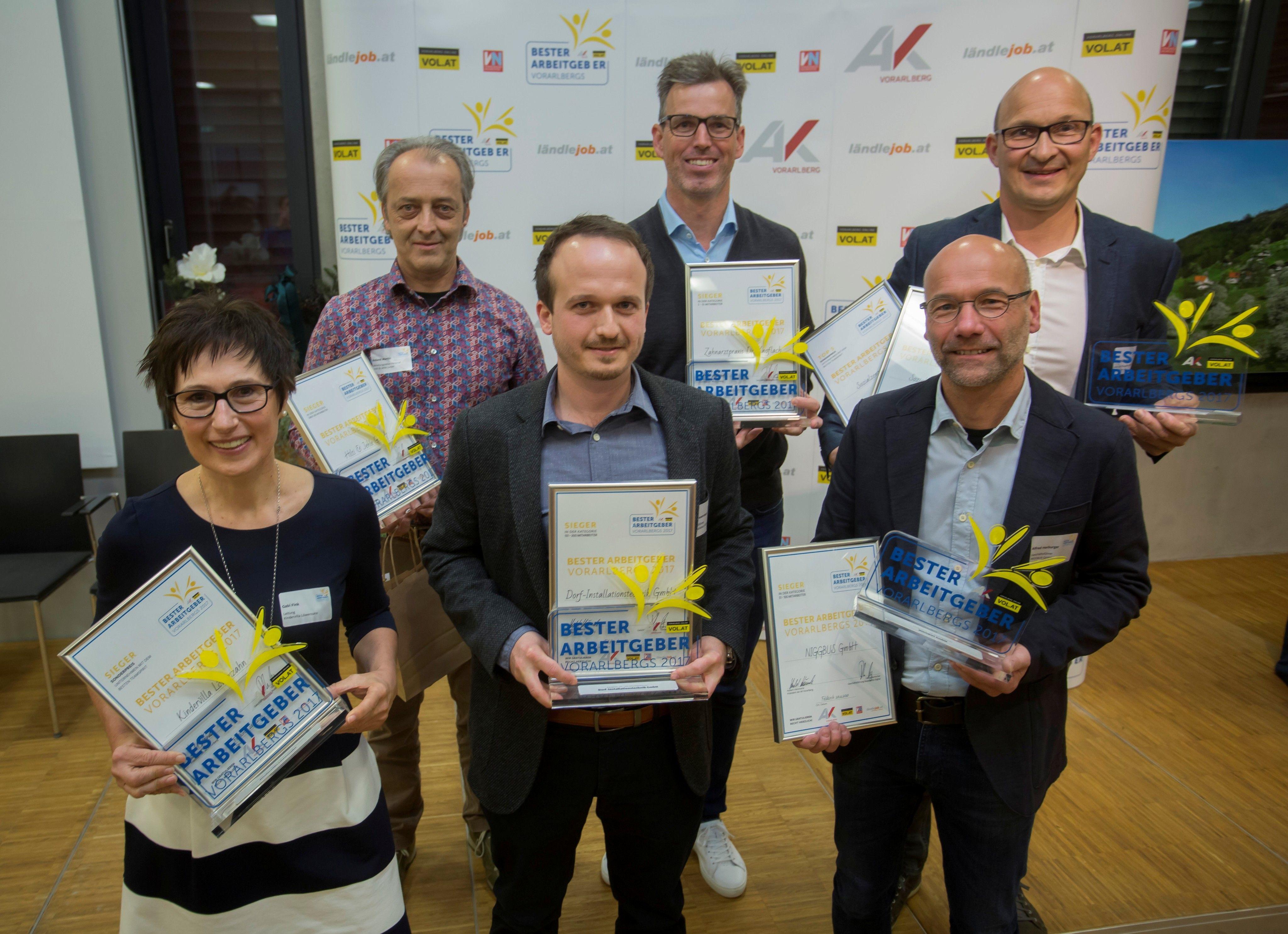 Beste Arbeitgeber 2017 in Vorarlberg: Das sind die Sieger!