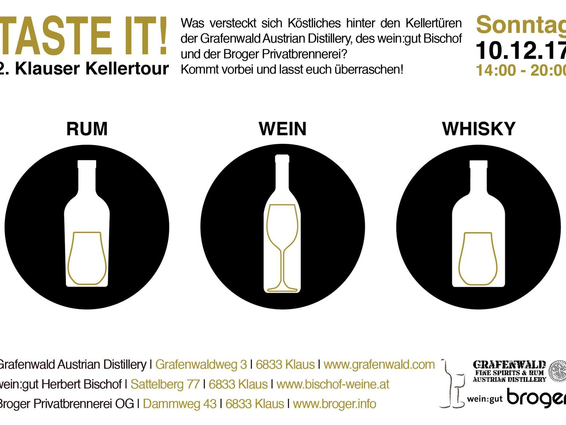 Taste it! 2. Klauser Kellertour