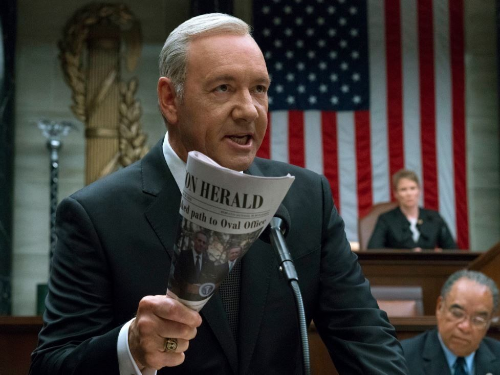 "Kevin Spacey spielt in ""House of Cards"" Präsident Frank Underwood."