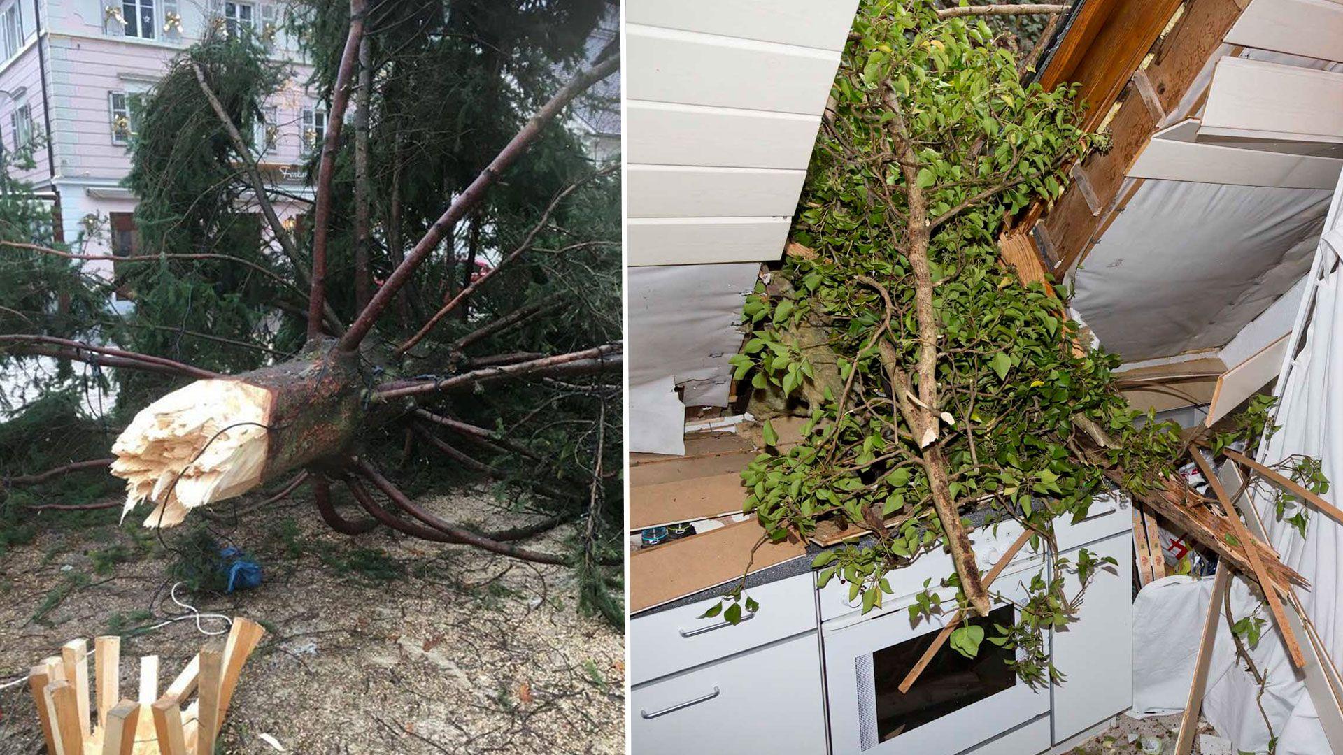 Sturmwind führte zu zahlreichen Feuerwehreinsätzen in Vorarlberg
