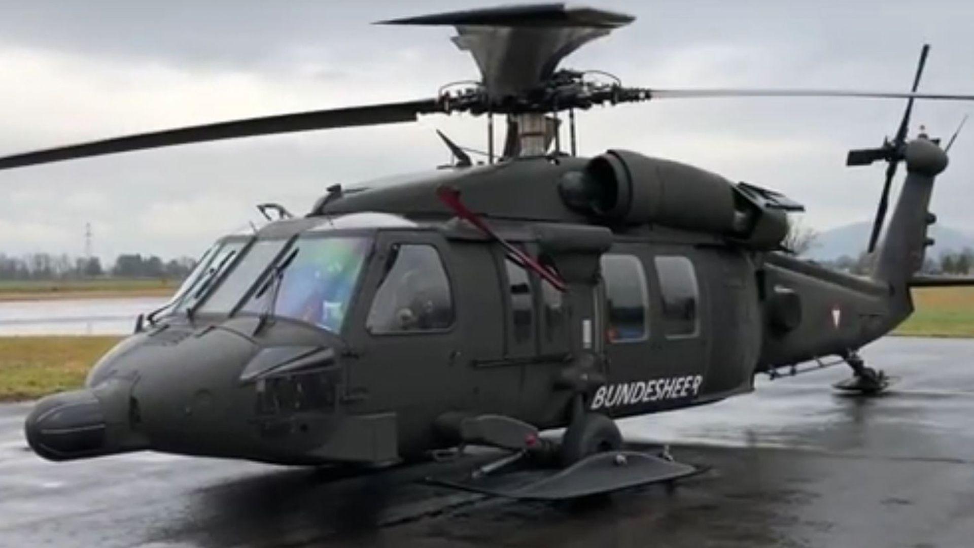 Ein Black Hawk in Hohenems