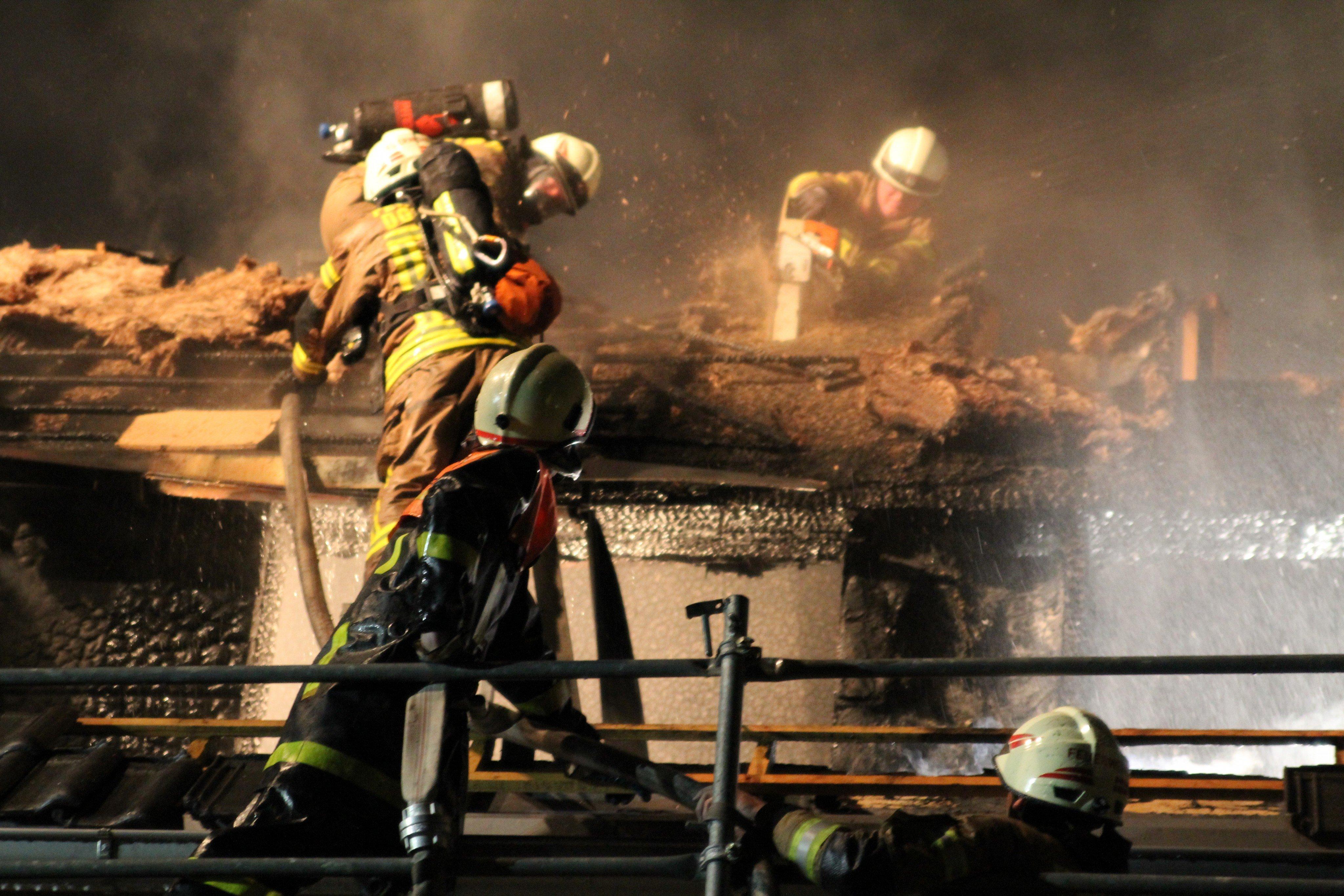 Dachstuhlbrand auf Baustelle in Dornbirn
