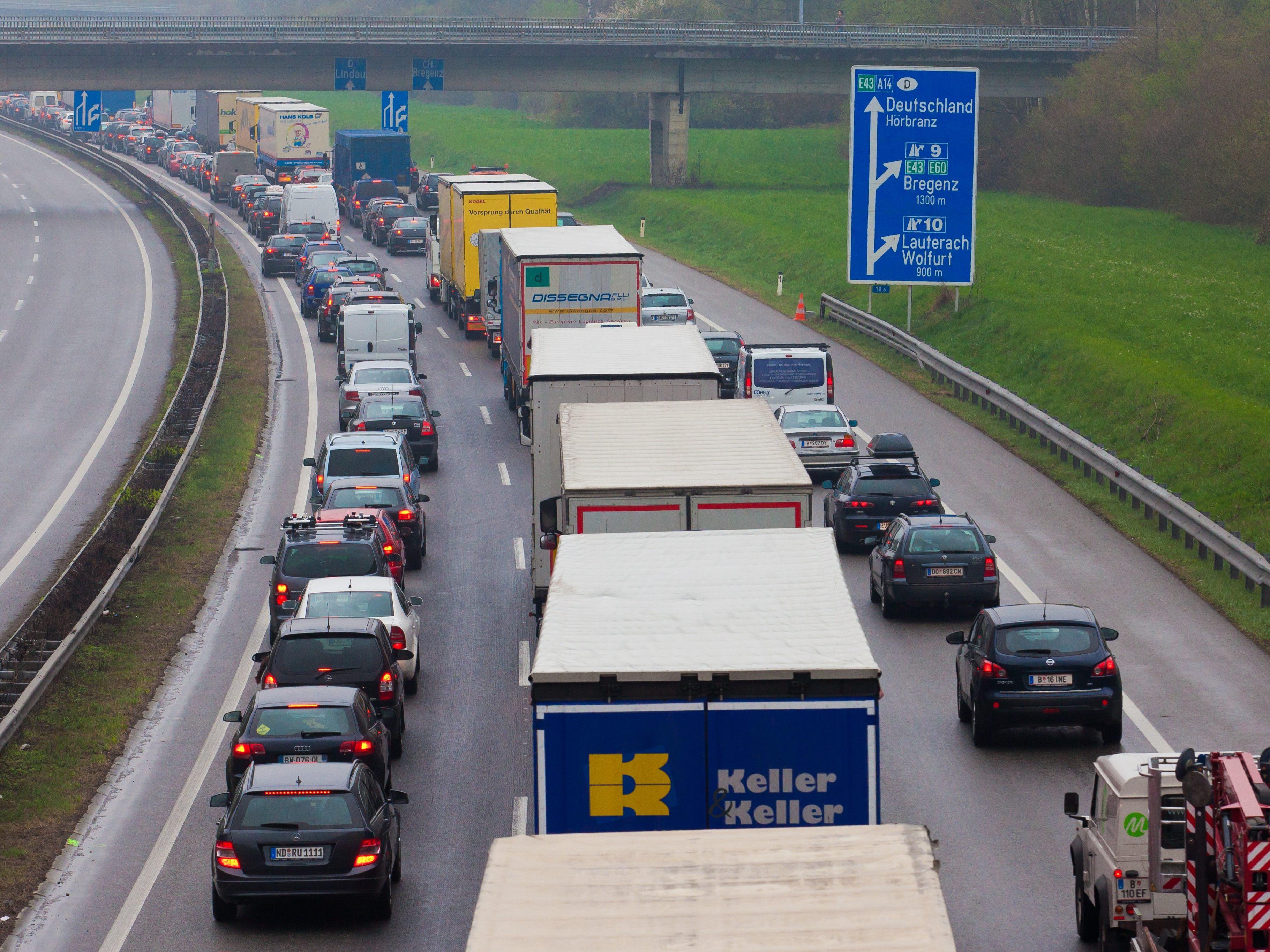 Verkehrsmeldung Autobahn