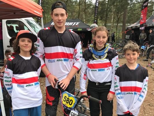 Das Bludenzer BMX-Team in Zolder