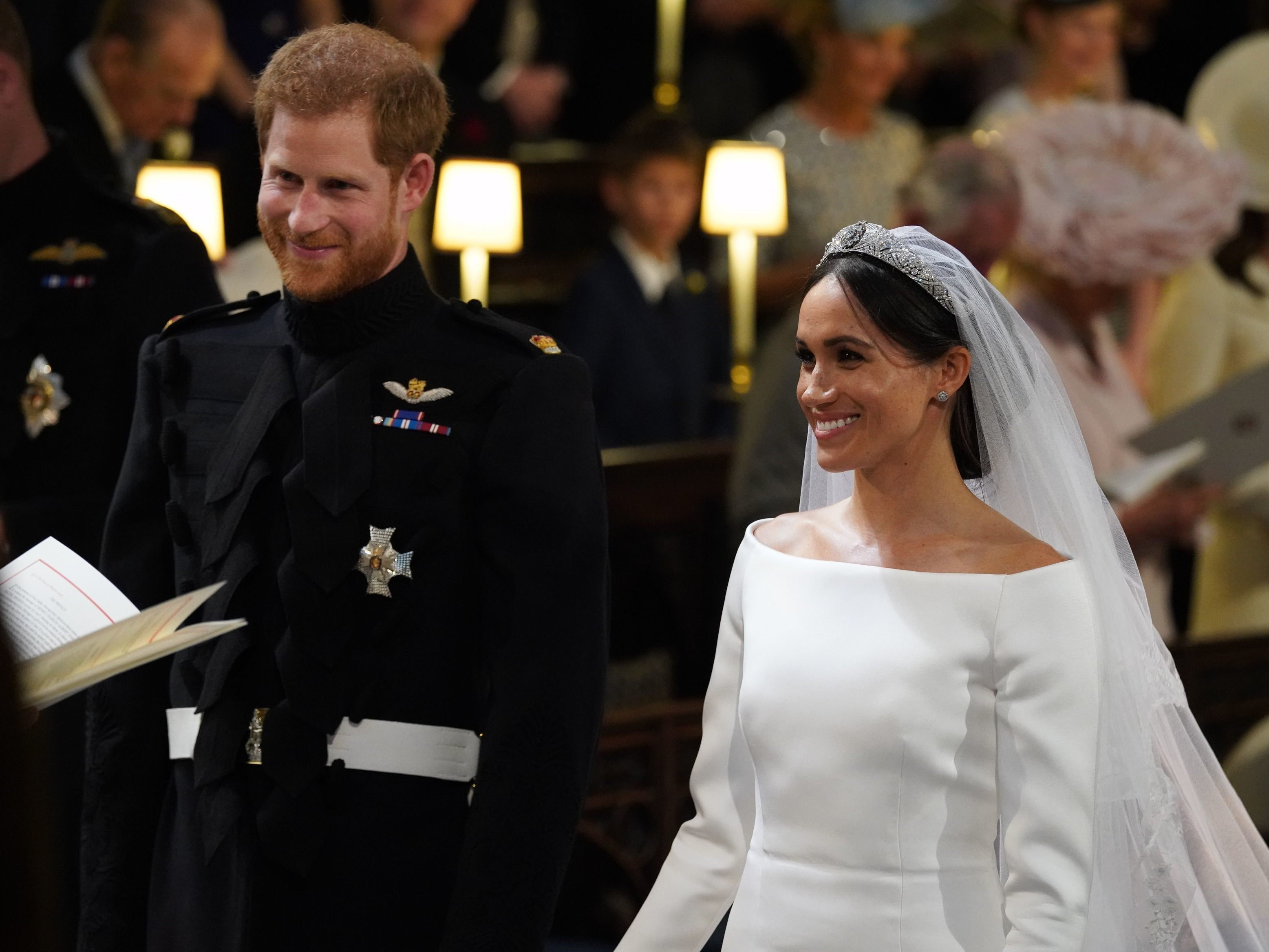 Prinz Harry heiratete seine Herzogin Meghan am Samstag in London.