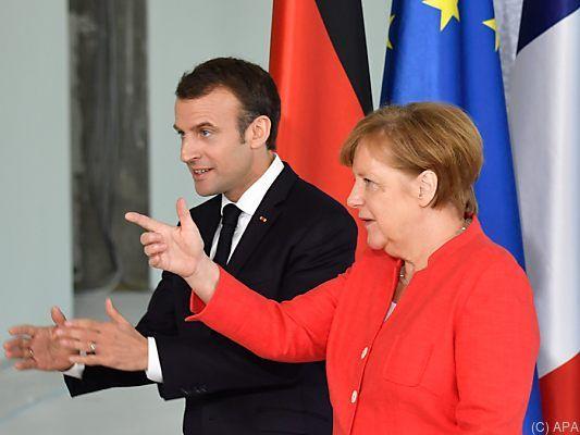 Merkel und Macron wollen EU-Reformpakt schmieden