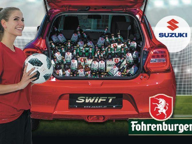 189 Flaschen Oberlander Ur Spezialbier Befanden Sich Im Kofferraum Des Suzuki Swift