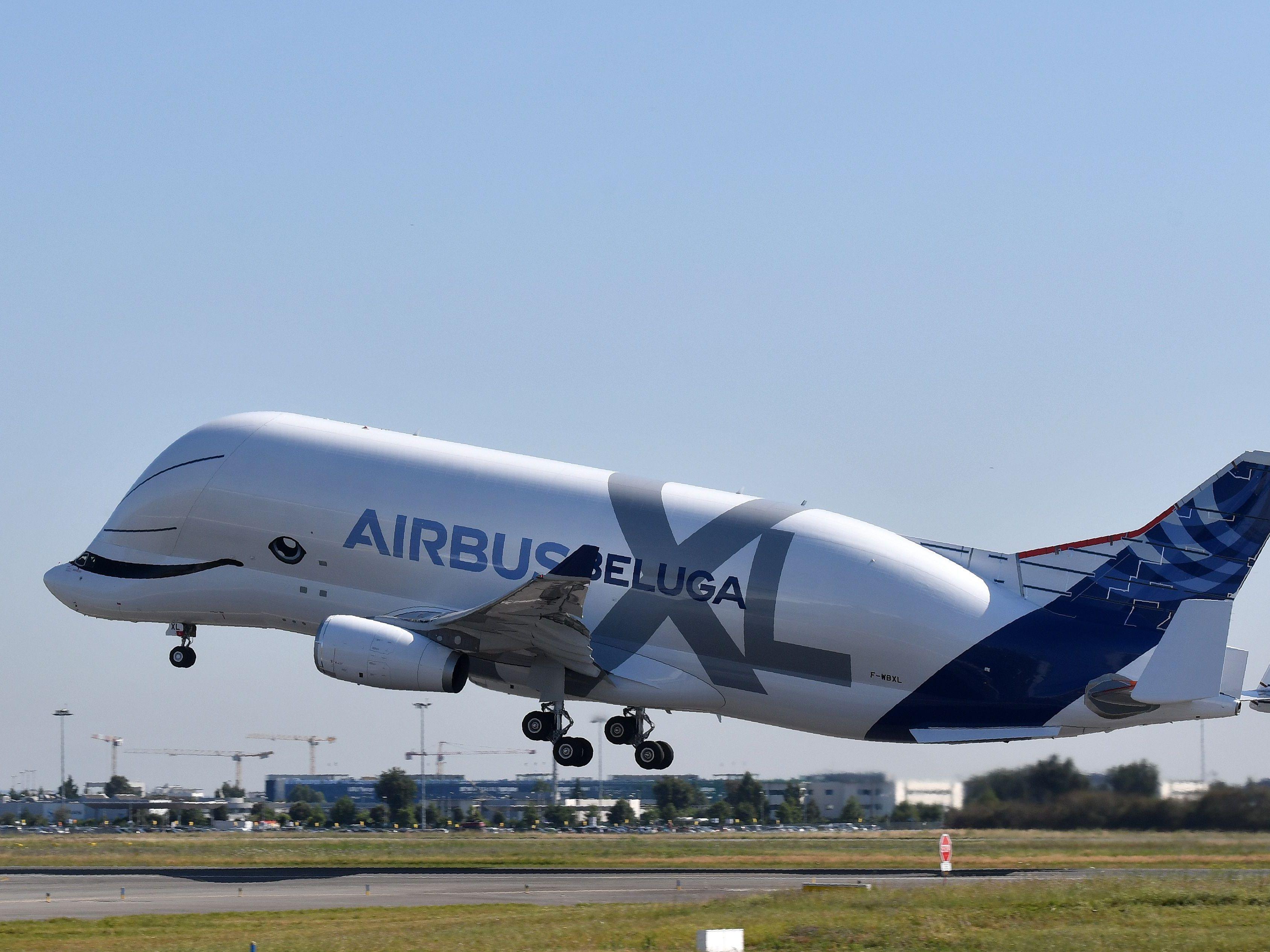 Airbus schickt seinen neuen Beluga-Wal auf Jungfernflug