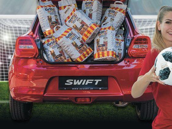 57 Kilogramm Grillkohle Befanden Sich Im Kofferraum Des Suzuki Swift