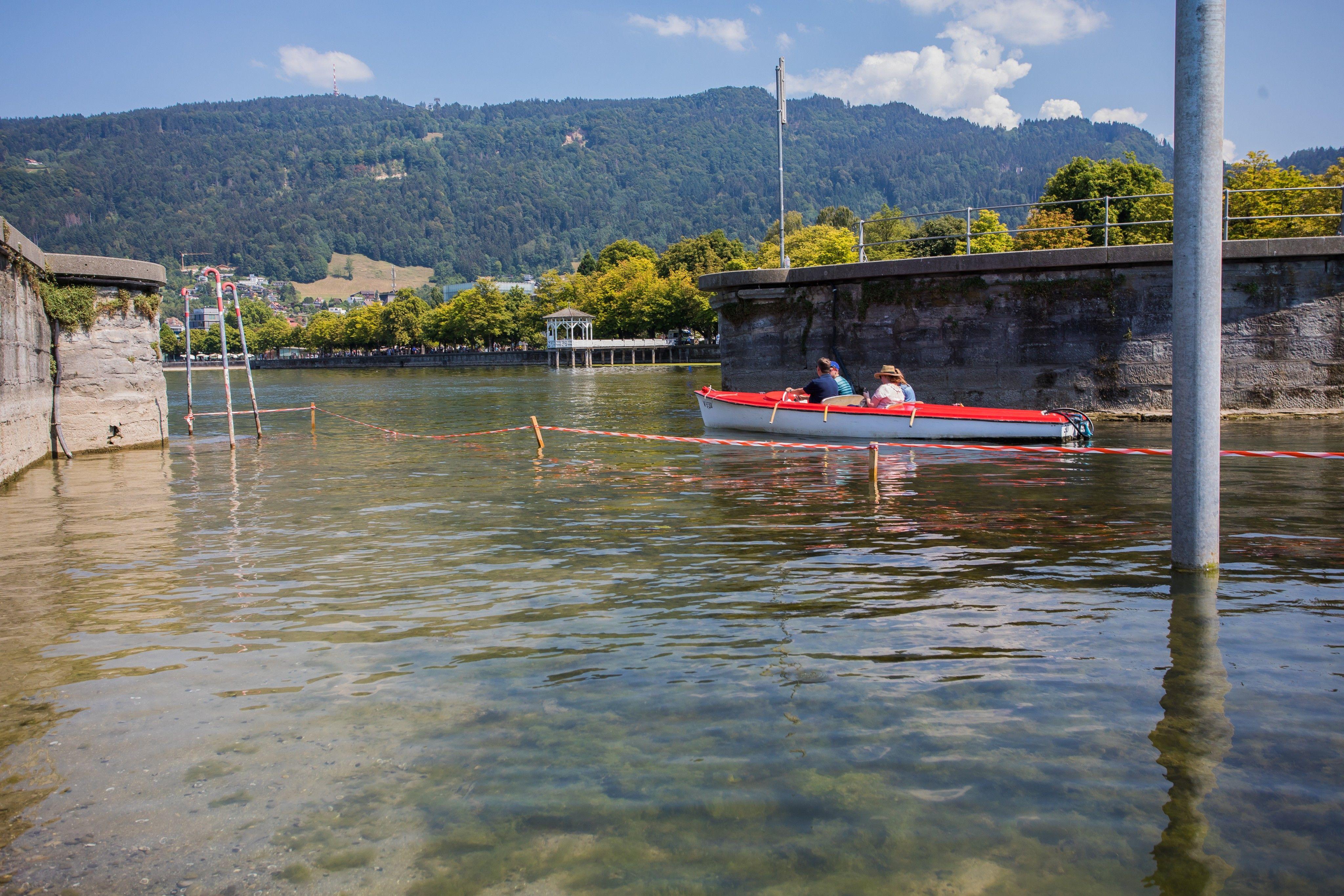 Bodensee: Pegelstand um weitere 17 Zentimeter gesunken