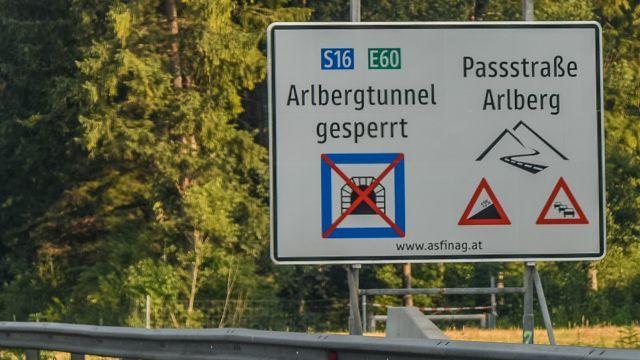 Vorarlberg: Arlbergtunnel ab 15 Uhr gesperrt