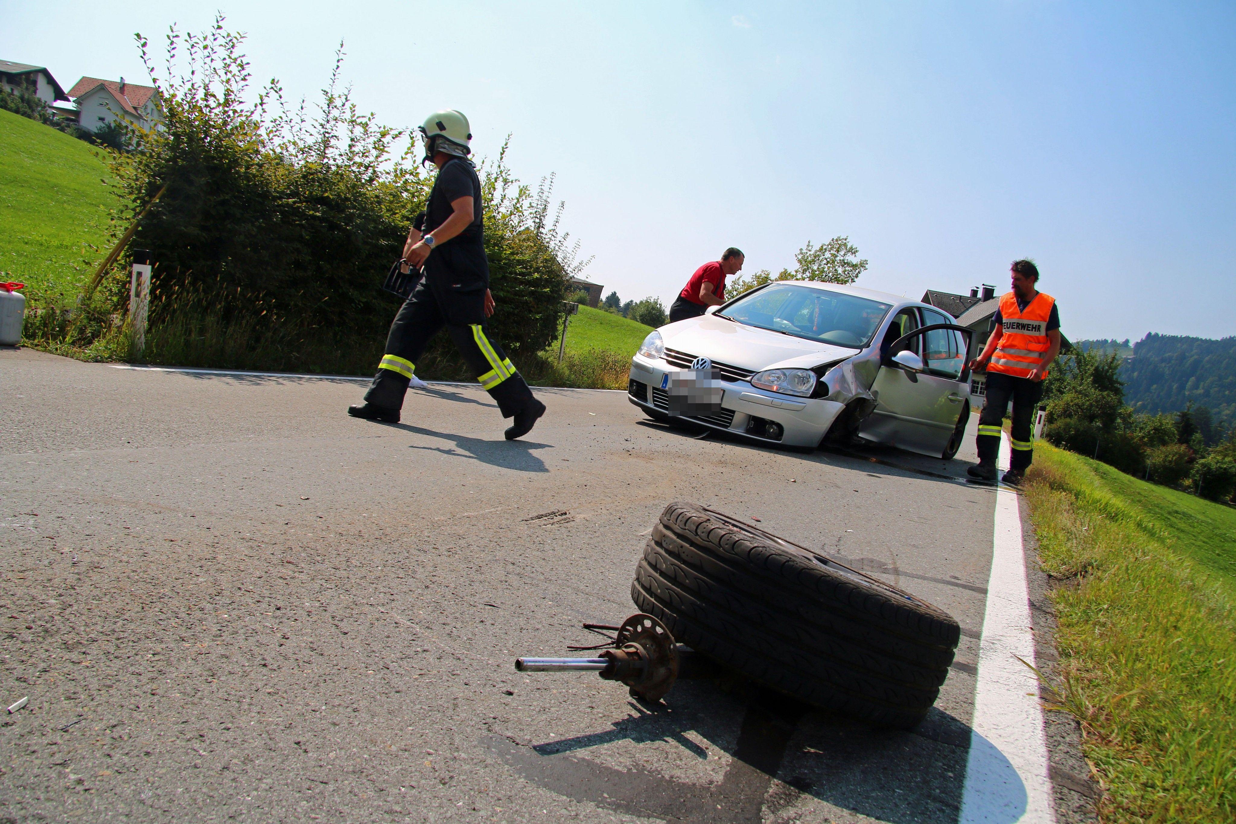 Vorarlberg: Pkw-Kollision in Alberschwende