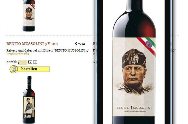 Mussolini wine, ©inostalgici.it