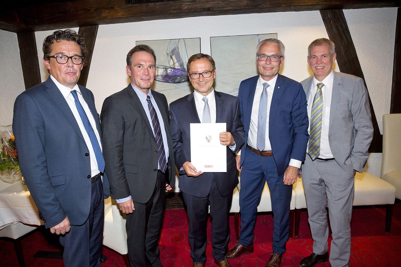 Sparkassen-Vorstandsvorsitzender Werner Böhler zum Kommerzialrat ernannt