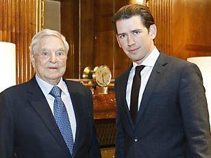Sebastian Kurz George Soros
