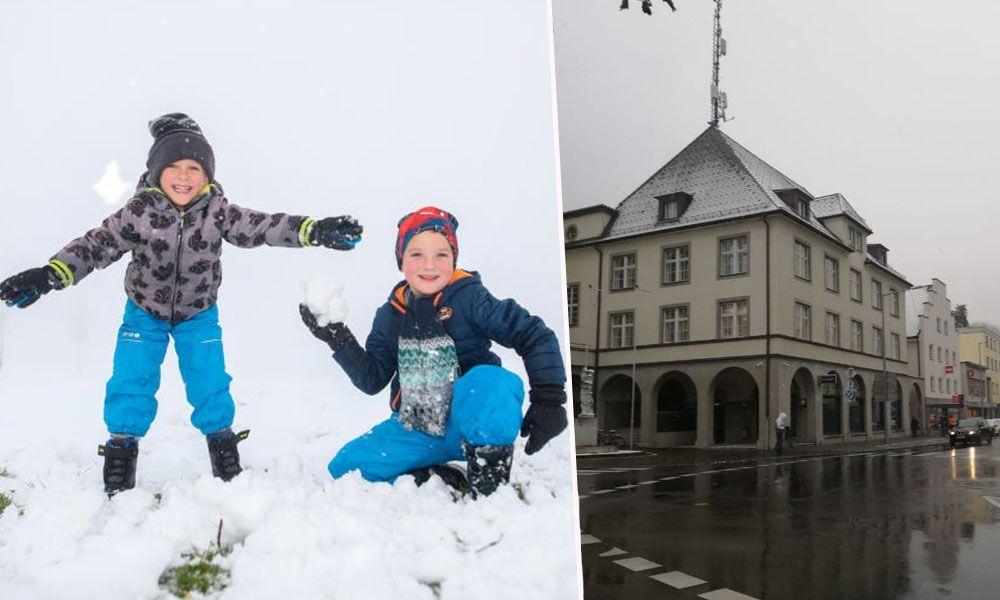 Frau Holle brachte Schnee bis ins Tal - Rest der Woche wird milder