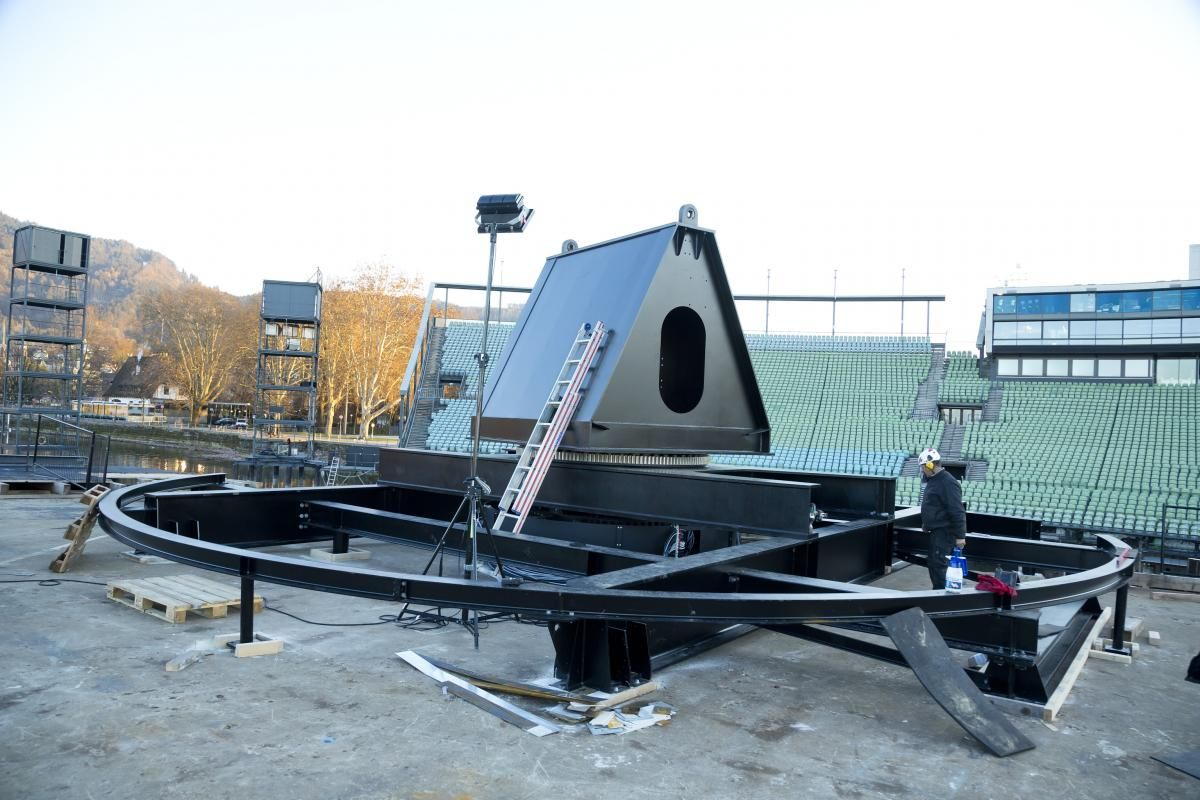 Festspiele: Eine Baustelle im Bodensee