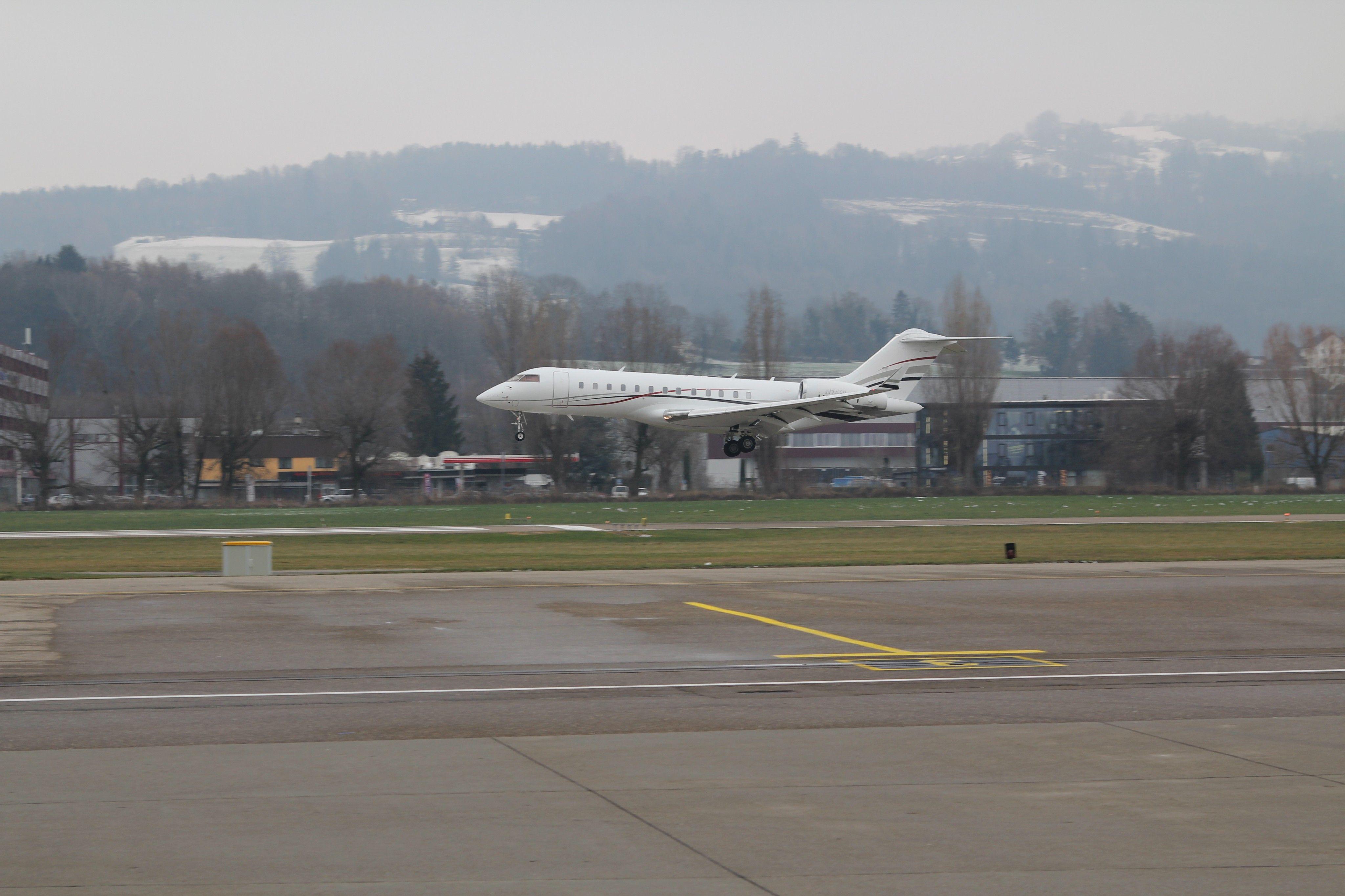 Hochbetrieb in Altenrhein zum Weltwirtschaftsforum in Davos 2019