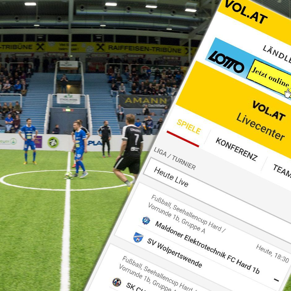 Alle Liveticker vom Seehallencup in Hard 2019 in der VOL.AT-App.