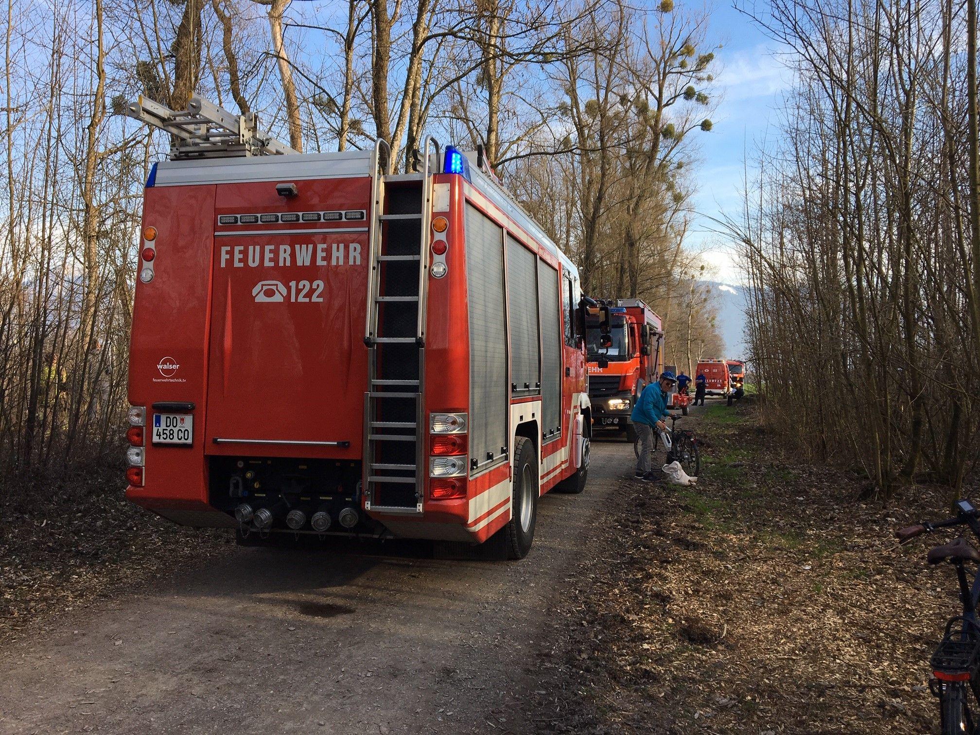 Vorarlberg: Schilfbrand am Grenzübergang in Lustenau