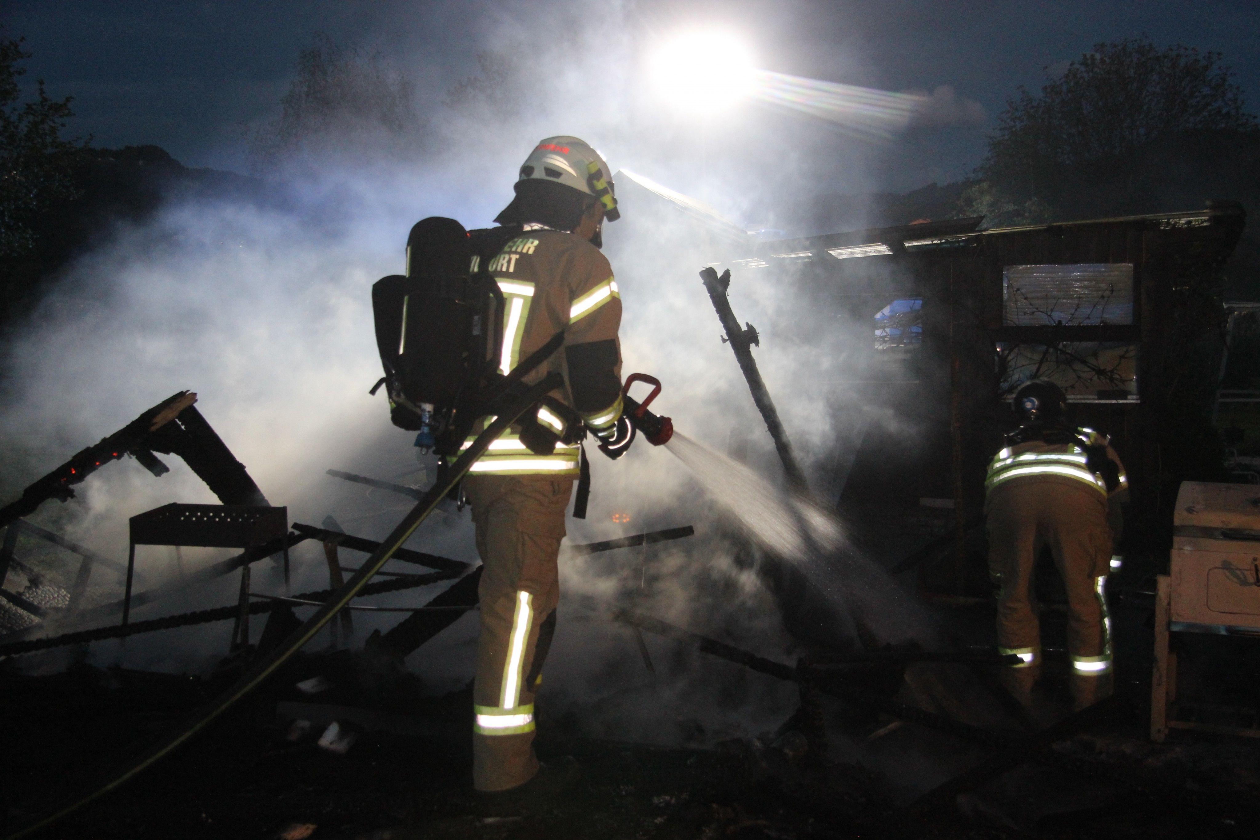 Vorarlberg: Schrebergartenhaus in Schwarzach abgebrannt
