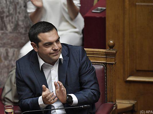 Knapper Abstimmungserfolg für Alexis Tsipras