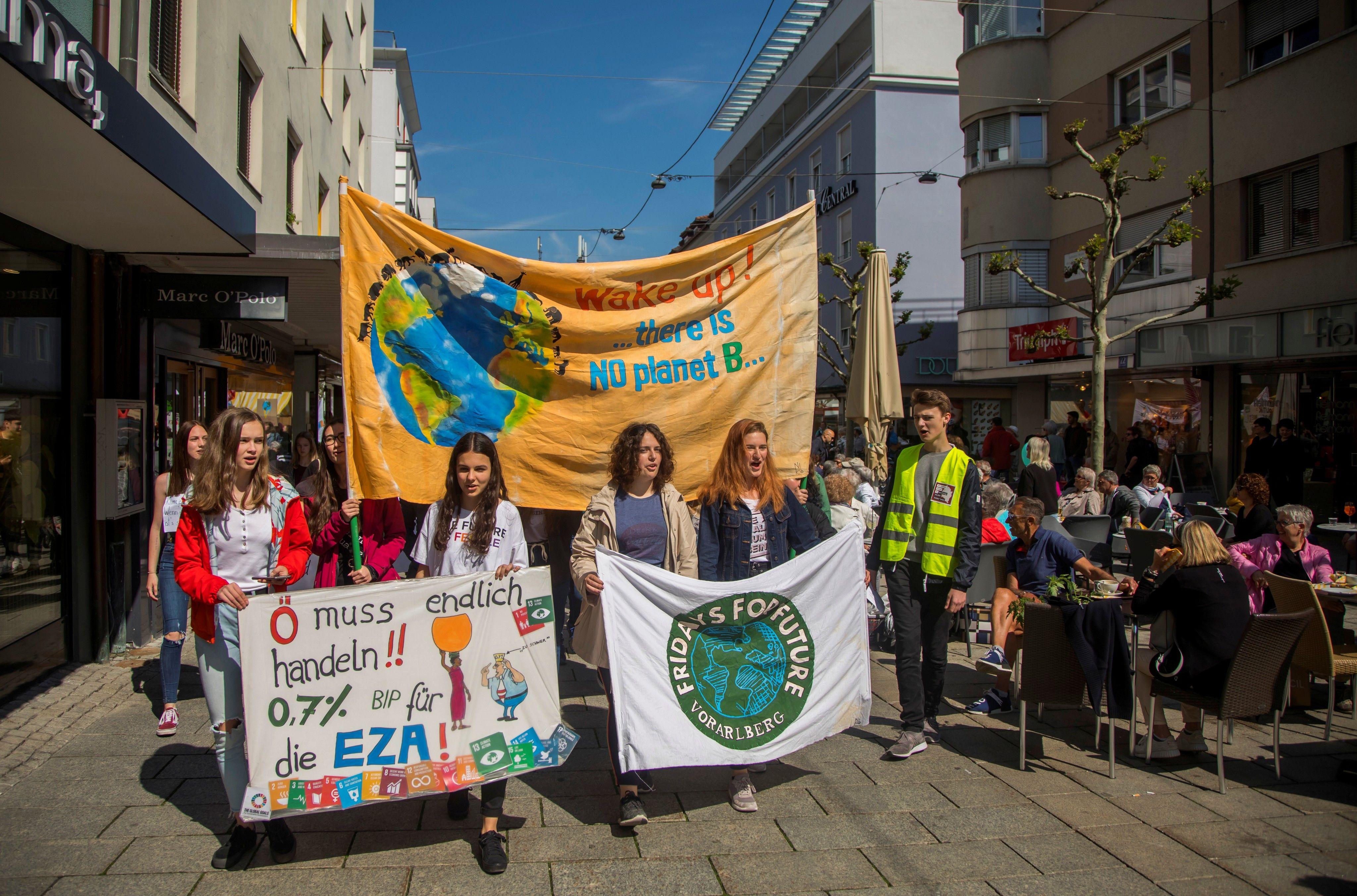Fridays For Future: Live vom Schüler-Klimastreik in Bregenz