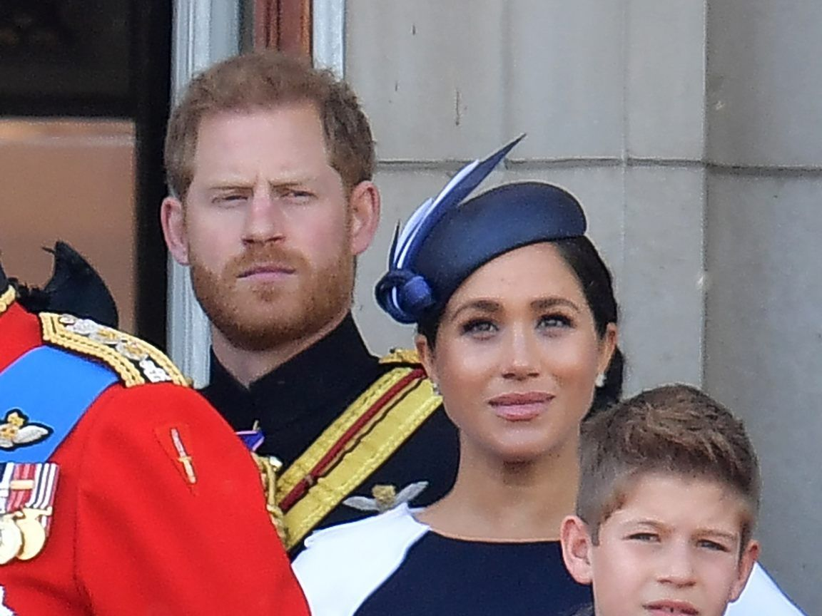 "Prinz Harry und Meghan Markle bei der ""Trooping the Colour""-Zeremonie."