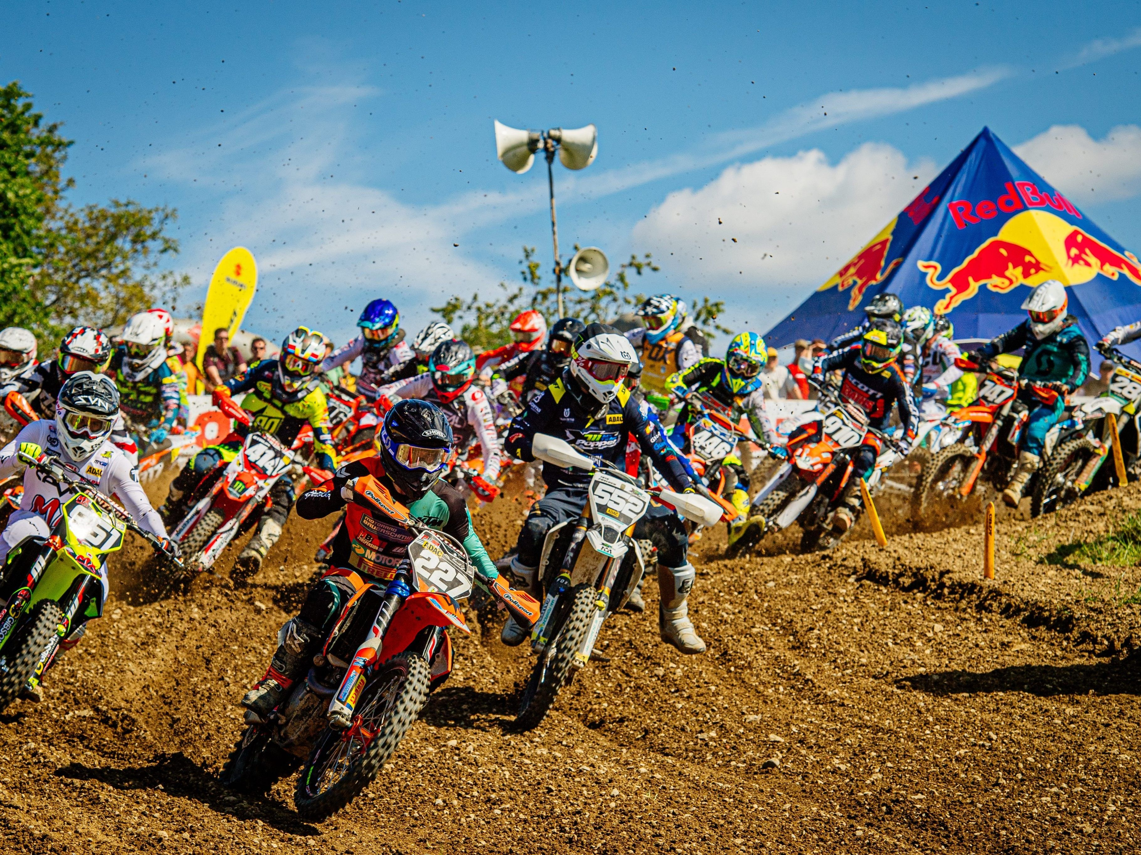 Motocross-Action in Möggers