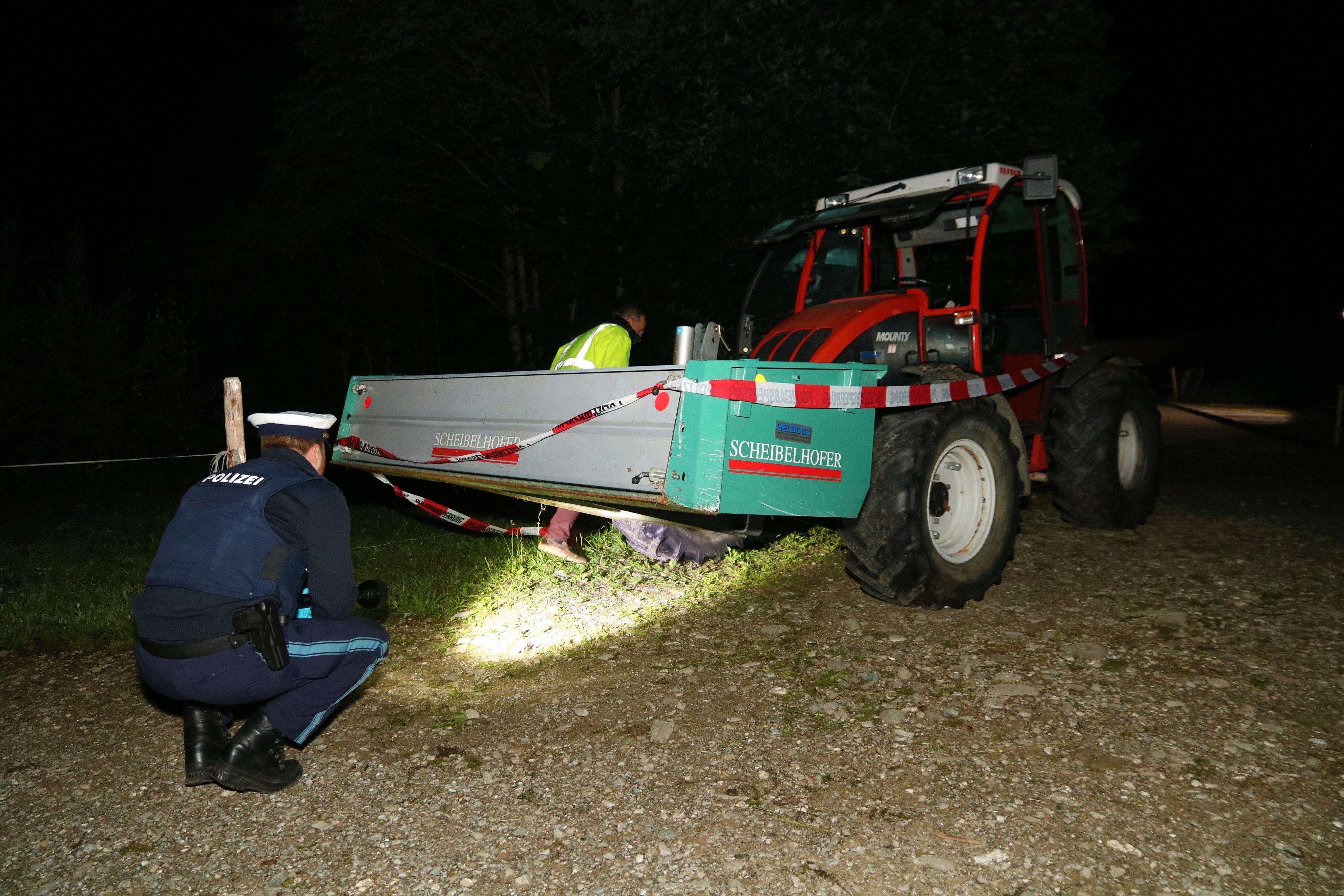 Der Schock sitzt tief - Einvernahmen nach Traktor-Tragödie noch nicht möglich