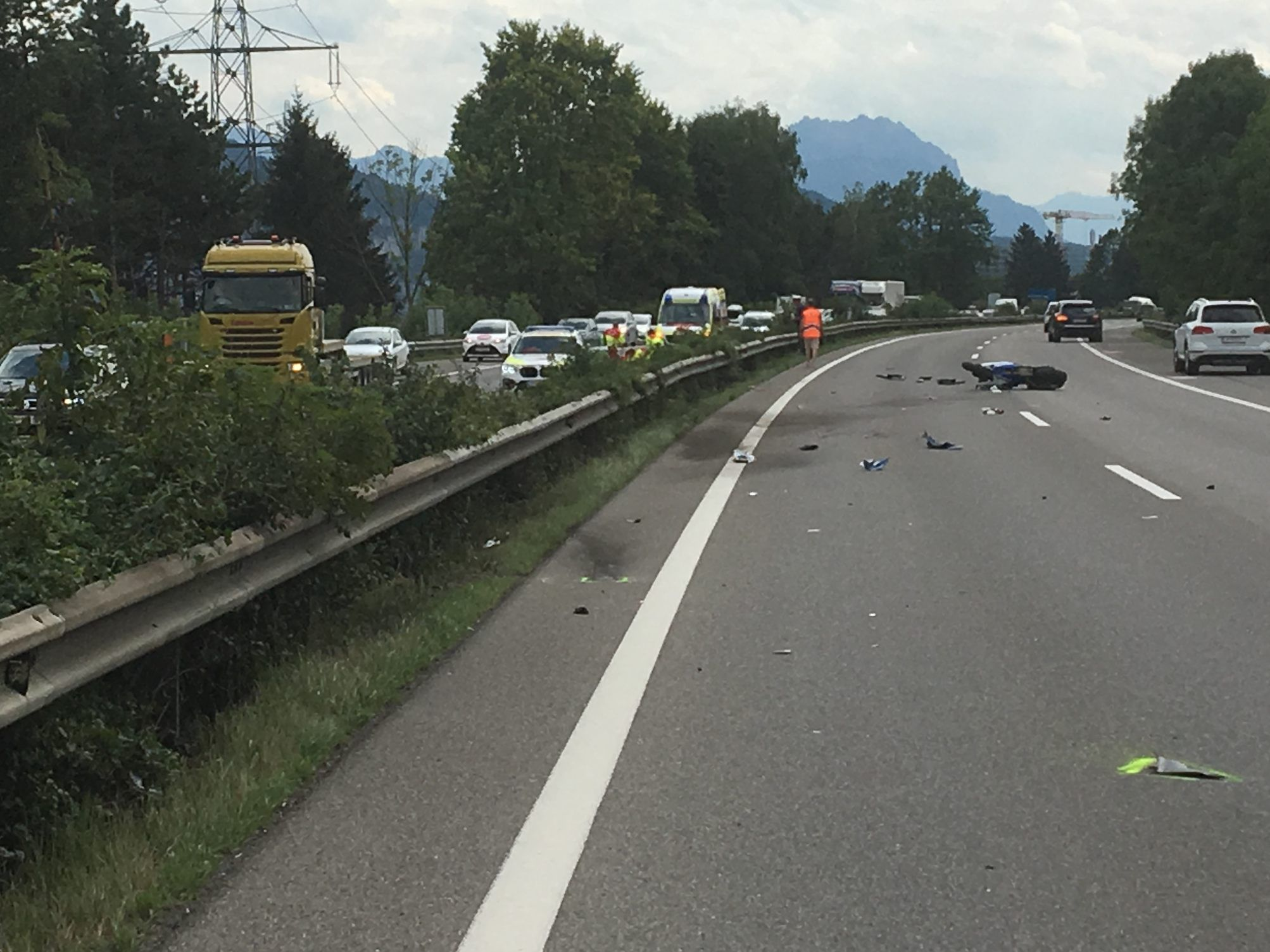 Heavy motorcycle accident on the A14 near Hohenems – Hohenems