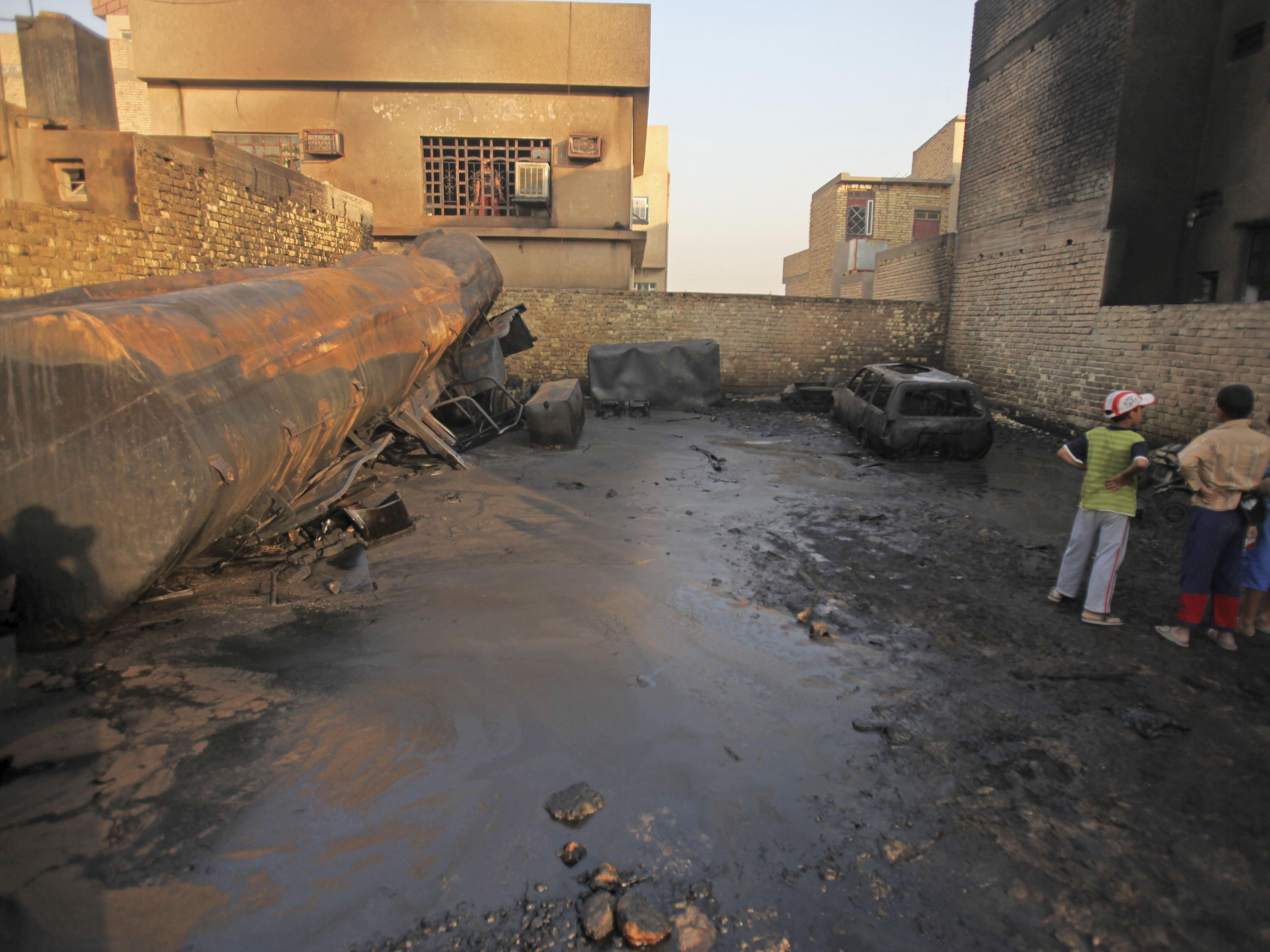 Zwei Geschosse schlagen in Grüner Zone in Bagdad ein