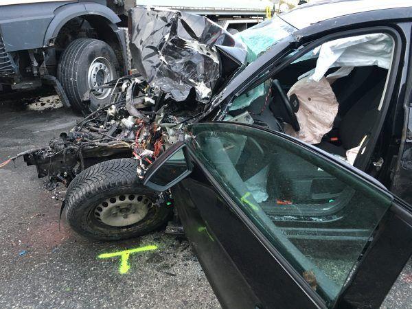 Schwerer Verkehrsunfall in Reuthe