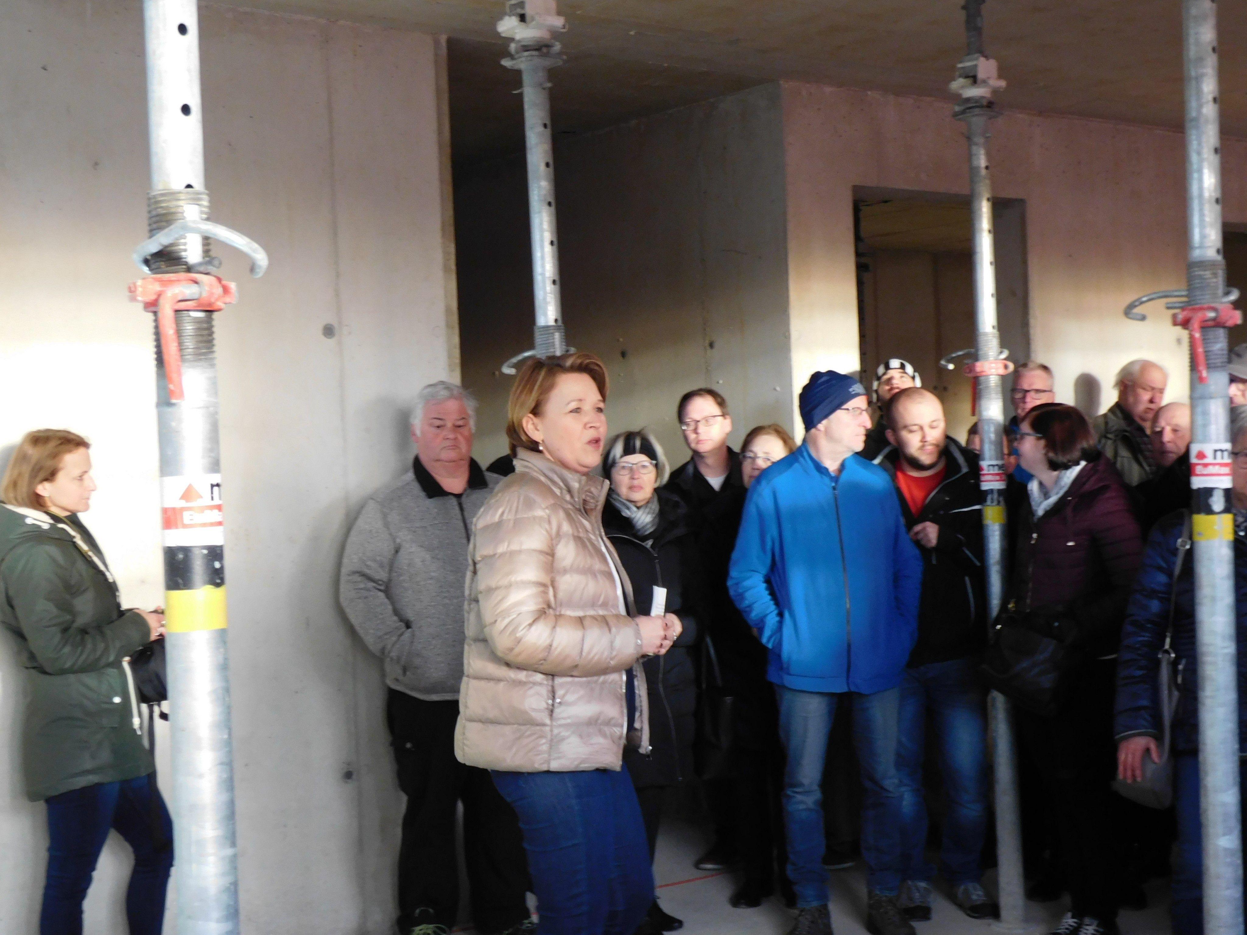 Bürgermeisterin Andrea Kaufmann gab Einblicke in die neue Polizeizentrale