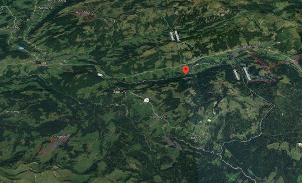 Alphütte in Hittisau in Vollbrand