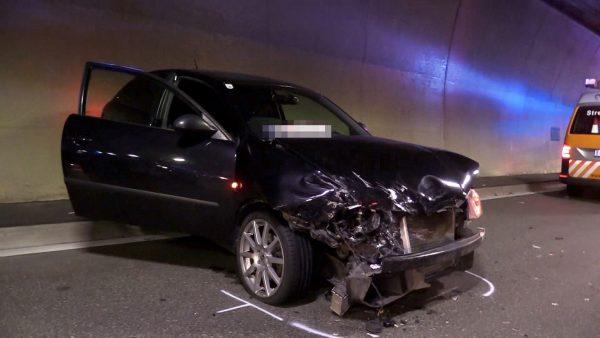 Pfändertunnel: Eine verletzte Person nach Auffahrunfall