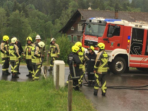 Fassadenbrand in Hittisau Bolgenach