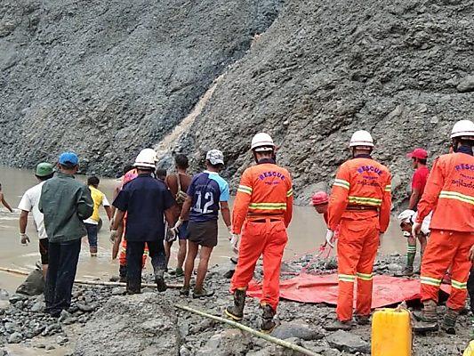 Tote bei Erdrutsch in Jade-Bergwerk in Myanmar