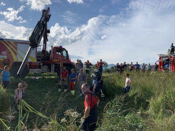 Tierbergung in Koblach: Pferd stürzte in Graben