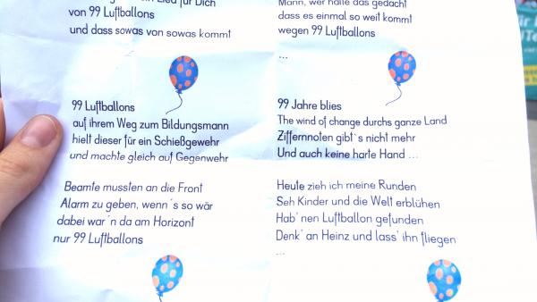 """""""Nicht genügend"""" für Faßmann: Mit 99 Luftballons gegen Notenzwang"""
