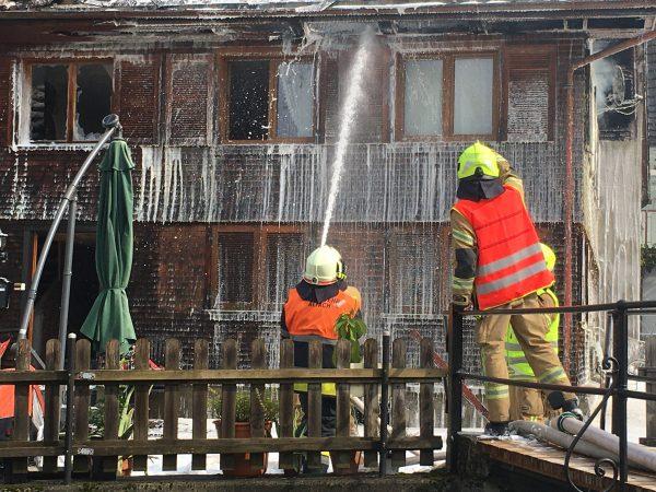 Dachstuhlbrand in Hohenems
