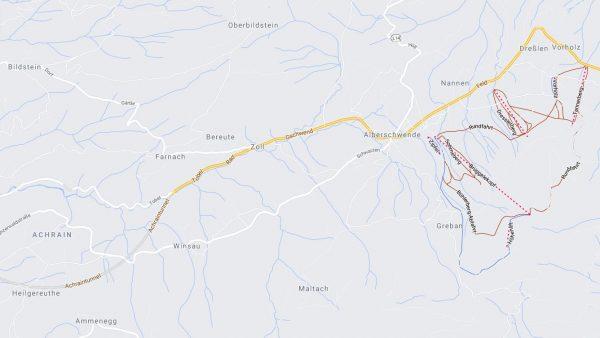 Unfall in Alberschwende: Pkw kommt von Straße ab